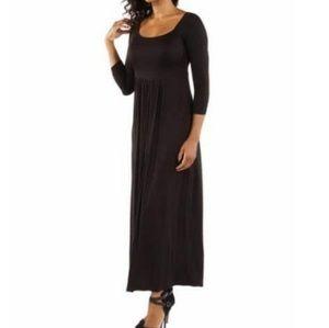 New! 24Seven Comfort Apparel Maxi Dress
